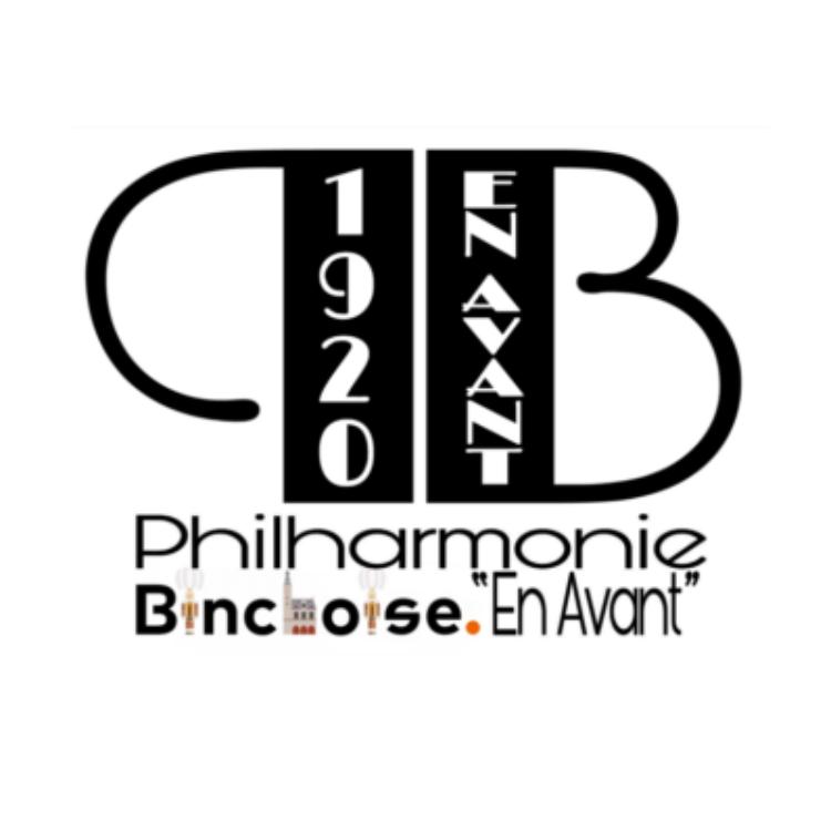 """Logo du groupe Philharmonie Binchoise """"En Avant"""""""